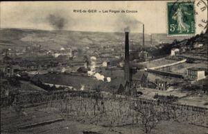 Ak Rive de Gier Loire, Les Forges de Couzon
