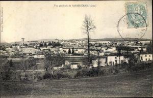 Ak Panissieres Loire, Vue générale