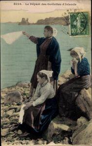 Ak Le Départ des Coelettes d'Inlande, Fischersfrauen in Tracht