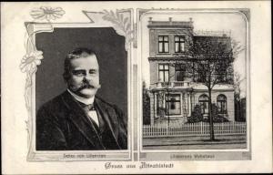 Ak Hamburg Wandsbek Rahlstedt Altrahlstedt, Autor Detlef von Liliencron, Wohnhaus