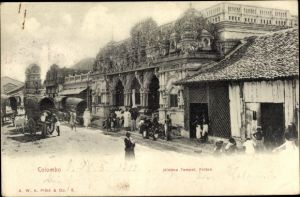 Ak Colombo Ceylon Sri Lanka, Hindoo Temple, Pettah