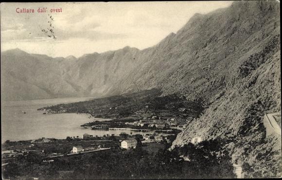 Ak Cattaro Montenegro, Panorama dall' ovest