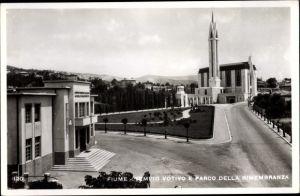 Ak Rijeka Fiume Kroatien, Tempio Votivo e Parco della Rimembranza