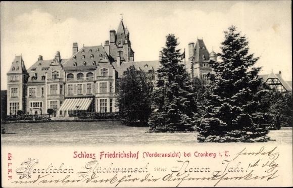 Ak Kronberg im Taunus Hessen, Schloss Friedrichshof