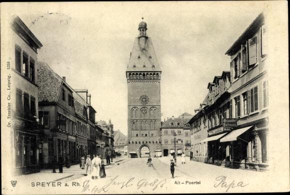 Ak Speyer am Oberrhein Rheinland Pfalz, Alt Pörtel, Geschäfte