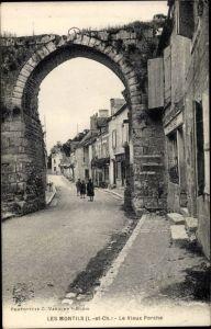 Ak Les Montils Loir et Cher, Le Vieux Porche
