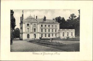 Ak Grandcamp Eure, Vue du Château