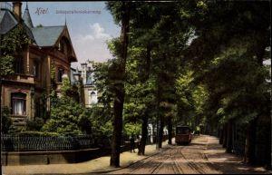 Ak Kiel in Schleswig Holstein, Düsternbrookerweg, Straßenbahn