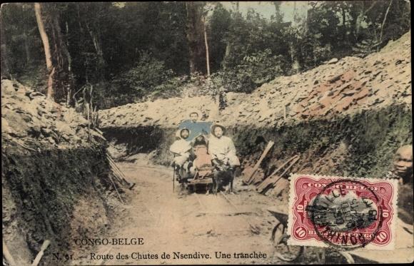 Ak Demokratische Republik Kongo Zaire, Route des Chutes de Nsendive, une tranchée 0