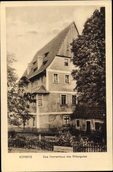 Ak Kürbitz Weischlitz im Vogtland, Das Herrenhaus des Rittergutes 0