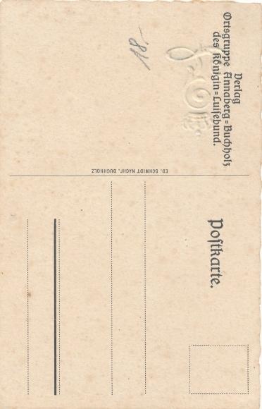 Gedicht Präge Ak Annaberg Buchholz Erzgebirge, Königin Luisebund, Reinhold Braun, Luise sein 1