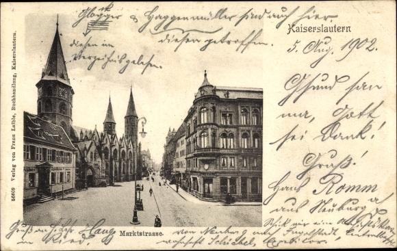 Ak Kaiserslautern in Rheinland Pfalz, Marktstraße