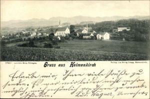 Ak Heimenkirch in Schwaben, Panorama vom Ort