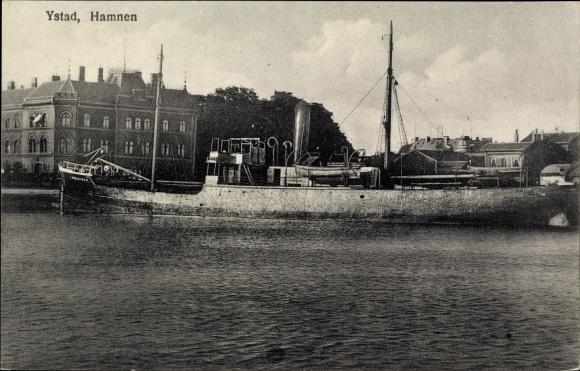 Ak Ystad Schweden, Hamnen, Hafenpartie