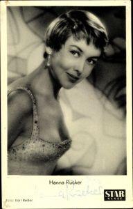 Ak Schauspielerin Hanna Rucker, Portrait, Kleid, Ohrringe