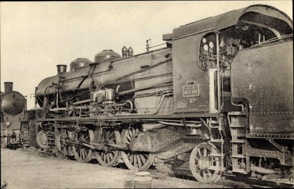 Ak Locomotives du Sud Est, ex PLM, Machine 141 c 168, Dampflokomotive