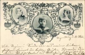 Ak Fürst Albert von Thurn und Taxis, Fürstin Margaretha, Erbprinz Franz Joseph, Jubiläum