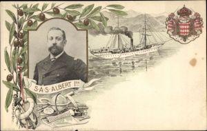 Wappen Ak SAS Albert 1er, Fürst Albert von Monaco