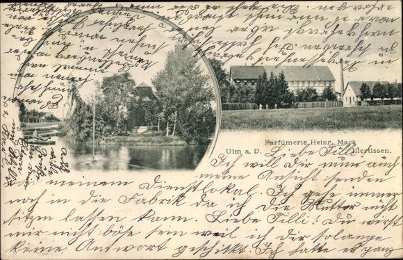 Ak Ulm an der Donau, Parfümerie Heinr. Mack