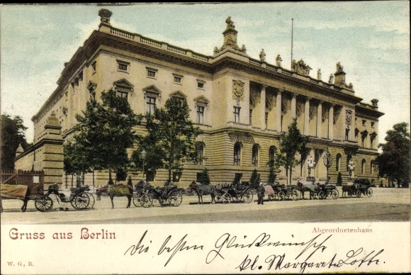 Ak Berlin Mitte, (Preußisches) Abgeordnetenhaus