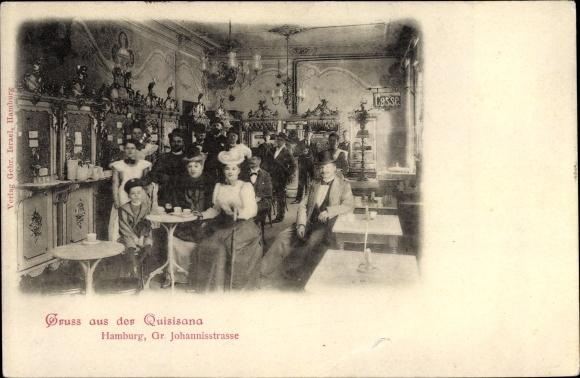 Ak Hamburg, Gasthaus Quisisana, Große Johannisstraße