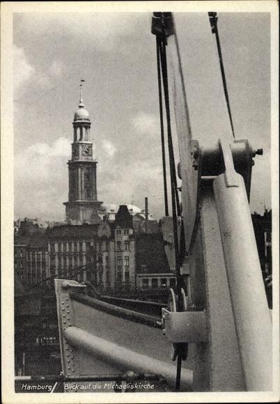 Ak Hamburg, Blick auf die Michaeliskirche