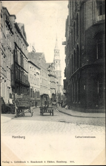 Ak Hamburg, Catharinenstraße