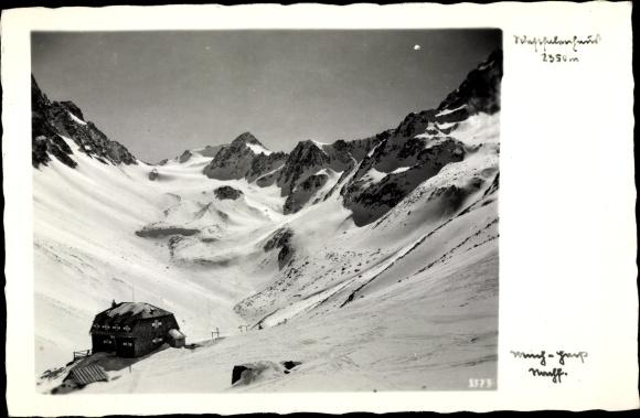 Ak Tirol Österreich, Bergpanorama, Schnee, Haus