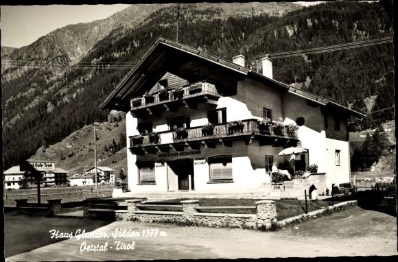 Ak Sölden in Tirol, Haus Glanzer, Totalansicht