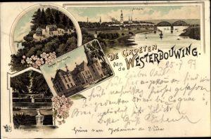 Litho Arnhem Gelderland Niederlande, Westerbouwing, Kasteel Doorwerth, Oorsprung