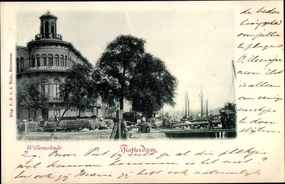Ak Rotterdam Südholland Niederlande, Willemskade