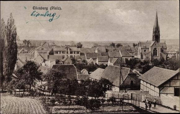 Ak Eisenberg Donnersbergkreis Pfalz, Blick über die Stadt