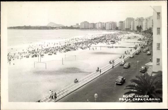 Ak Rio de Janeiro Brasilien, Praia Copacabana, skyscrapers