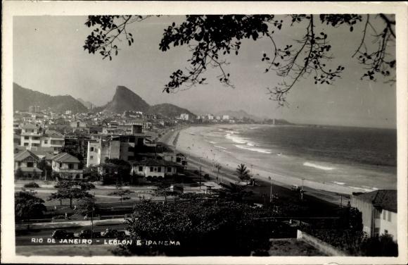 Ak Rio de Janeiro Brasilien, Leblon e Ipanema, beach