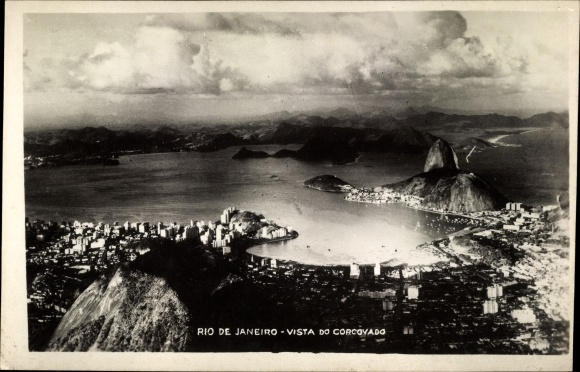 Ak Rio de Janeiro Brasilien, Vista do Corcovado
