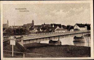 Ak Donauwörth in Schwaben, Donaubrücke