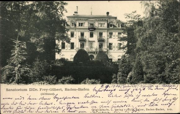 Ak Baden Baden am Schwarzwald, Sanatorium DDr. Frey-Gilbert, Althaus