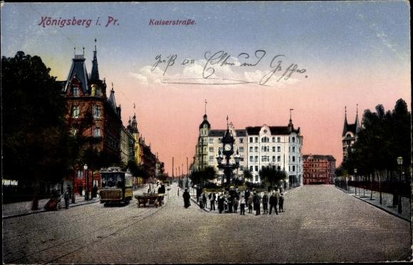 Ak Kaliningrad Königsberg Ostpreußen, Kaiserstraße