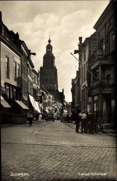 Ak Zutphen Gelderland Niederlande, Lange Hofstraat
