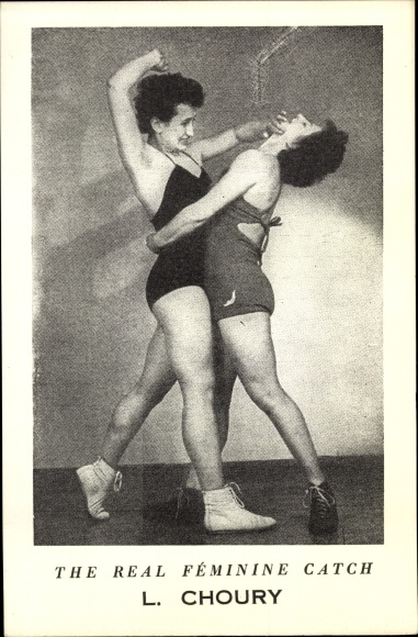 Ak The real Féminie Catch, L. Choury, Frauenringen