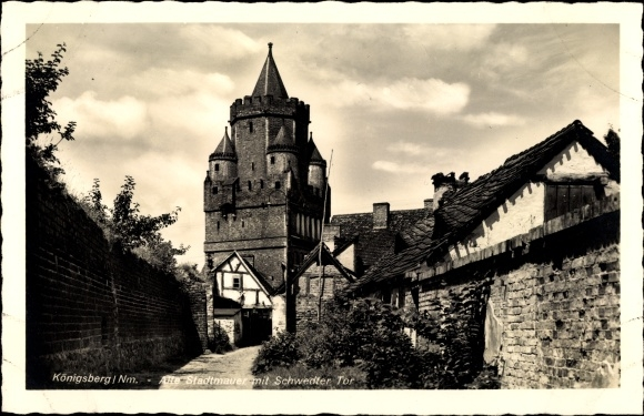 Ak Chojna Königsberg Neumark Ostbrandenburg, Alte Stadtmauer mit Schwedter Tor