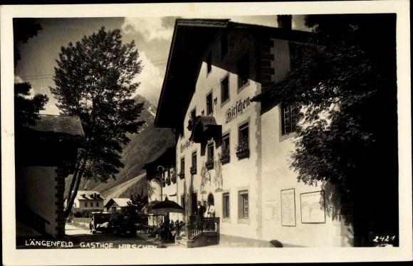 Ak Längenfeld in Tirol, Gasthof Hirschen