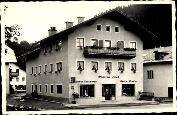 Ak Bruck an der Großglocknerstraße in Salzburg, Pension Leeb
