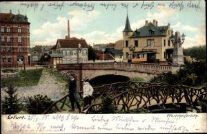 Ak Erfurt in Thüringen, Pförtchenbrücke