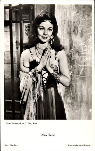 Ak Schauspielerin Dany Robin, Portrait