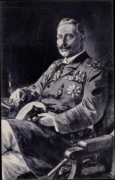 Künstler Ak Stöwer, Willy, Kaiser Wilhelm II. als Großadmiral, Zigarette