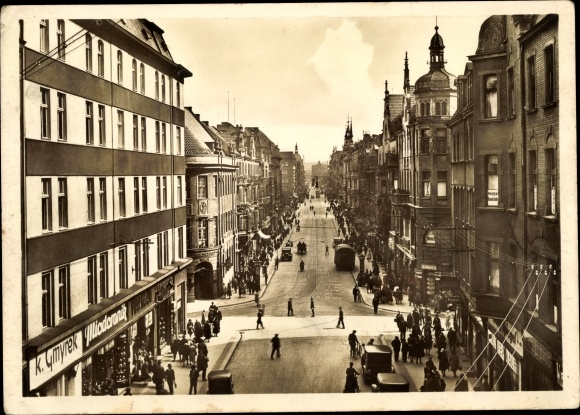 Ak Gliwice Gleiwitz Schlesien, Wilhelmstraße