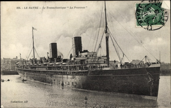 Ak Le Havre Seine Maritime, Dampfer La Provence