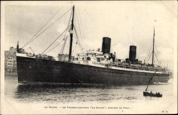 Ak Le Havre Seine Maritime, Dampfer La Savoie, CGT
