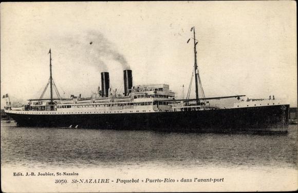 Ak Saint Nazaire Loire Atlantique, Dampfer Puerto Rico